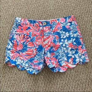 ddf9fe97a7ddcc Lilly Pulitzer Shorts - Lilly Pulitzer Buttercup Short in Pop Glow Size 4